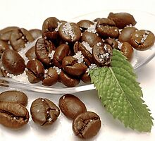 Minted coffee beans by Kristina K