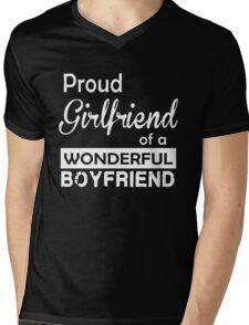 PROUD GIRLFRIEND OF A WONDERFUL BOYFRIEND Mens V-Neck T-Shirt
