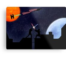 Lightsaber fight Metal Print