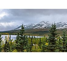 Alaska Mountain Range View Photographic Print