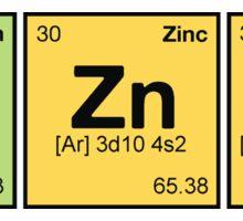Ba Zn Ga! - periodic elements scramble Sticker