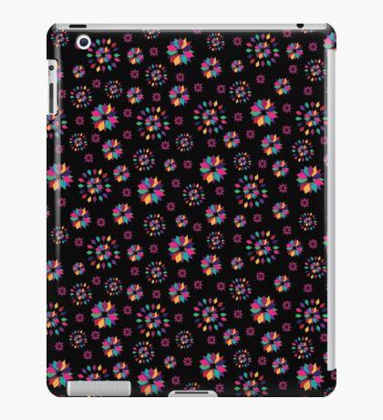 Rainbow Petals in Black II iPad Case/Skin