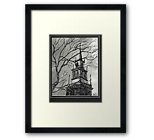 Church Pen and Ink  Framed Print