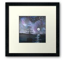 Neverland at Night 2 Framed Print