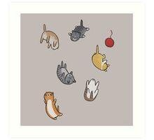 kitten rain Art Print