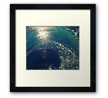 Wave of Life Acrylic on Canvas Framed Print