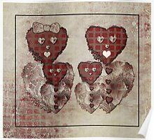 Heart Bear Family Poster