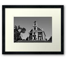 Beautiful Church B & W Framed Print