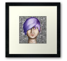 Realistic face Framed Print