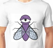 Lazy Purple Fly Unisex T-Shirt