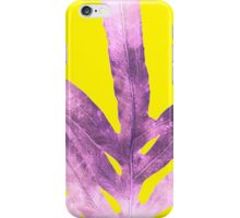 Green Fern on Bright Yellow Inverted iPhone Case/Skin