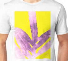 Green Fern on Bright Yellow Inverted Unisex T-Shirt