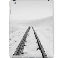 Travelling Dunes | Crossing the Rail-Tracks iPad Case/Skin