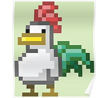 Pixel Rooster Poster