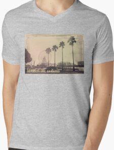 Vintage Summer Mens V-Neck T-Shirt