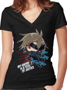Metal Gear Rising - Raiden Women's Fitted V-Neck T-Shirt