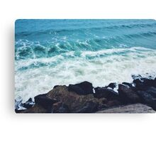 Waves and rocks Canvas Print