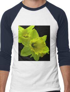 Daffodils Rejoicing Men's Baseball ¾ T-Shirt