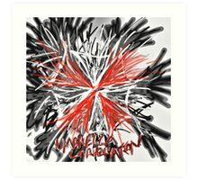 Messy umbrella corporation logo Art Print