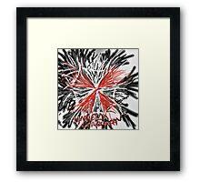 Messy umbrella corporation logo Framed Print