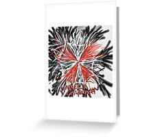 Messy umbrella corporation logo Greeting Card