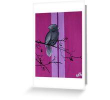 Bird on Pink  Greeting Card