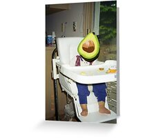 baby avocado Greeting Card