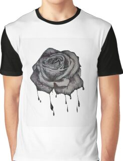 Dripping Rose Graphic T-Shirt