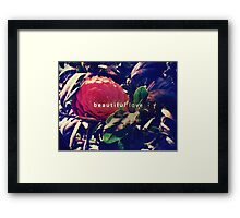 beautiful love Framed Print
