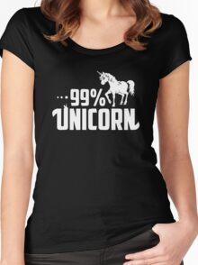 99% Unicorn Women's Fitted Scoop T-Shirt