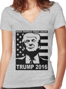 Trump 2016 Women's Fitted V-Neck T-Shirt