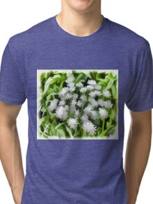 Abstract Pastel Flowers Drawing Take 5 Tri-blend T-Shirt
