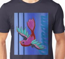 Bird on Blue Unisex T-Shirt