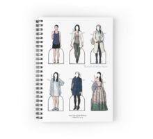 Joan Watson Paper Dolls Spiral Notebook