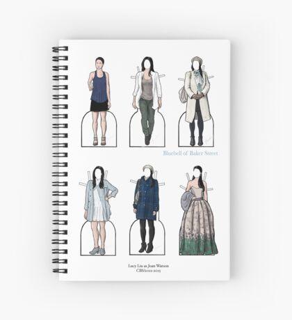 Joan Watson Paper Dolls Spiral Notebook
