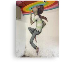 Graffiti Rainbow Peek Canvas Print