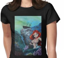The Shipwreck Mermaid Womens Fitted T-Shirt