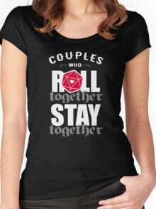Couples who roll together, stay together D20 Women's Fitted Scoop T-Shirt