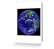 Full Earth Showing The Americas. Greeting Card
