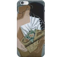 Juan Gris, (– ), THE WOMAN WITH THE BASKET iPhone Case/Skin