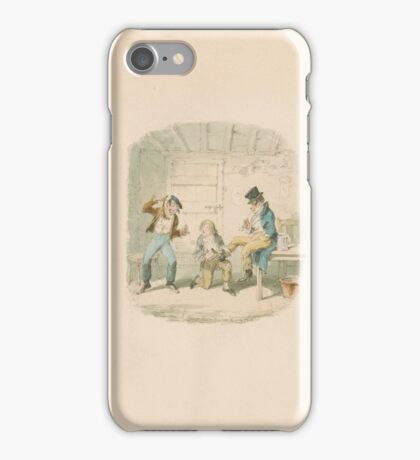 George Cruikshank  Master Bates Explains a Professional Technicalit iPhone Case/Skin