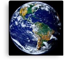 Full Earth Showing The Americas. Canvas Print