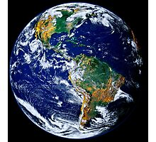 Full Earth Showing The Americas. Photographic Print