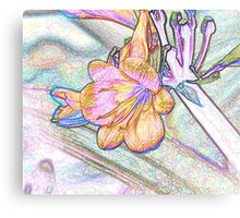 Abstract Beautiful Orchid In Pastel Colors Take 2 Canvas Print