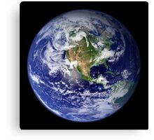Earth showing the western hemisphere. Canvas Print