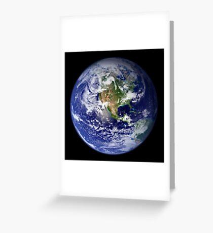 Earth showing the western hemisphere. Greeting Card