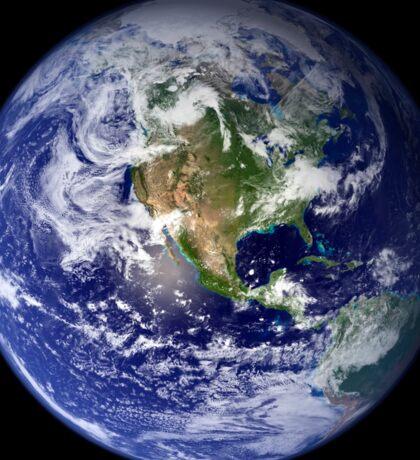 Earth showing the western hemisphere. Sticker
