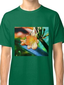 Abstract flowers drawing in pastel colors Take 5 Classic T-Shirt