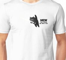 Mew the Force be with you Unisex T-Shirt