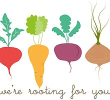 Veggies - We're rooting for you! by SarGraphics